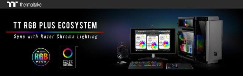 Thermaltake TT RGB PLUS rendszer Razer Chroma Lighting szinkronizációval