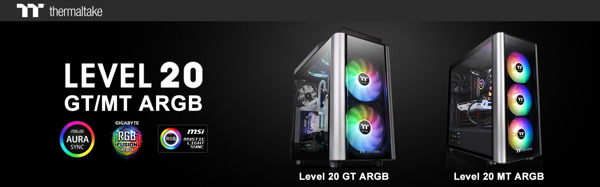 A Thermaltake bemutatta az új Level 20 MT ARGB közepes méretű toronyházat és a Level 20 GT ARGB  nagyméretű toronyházat