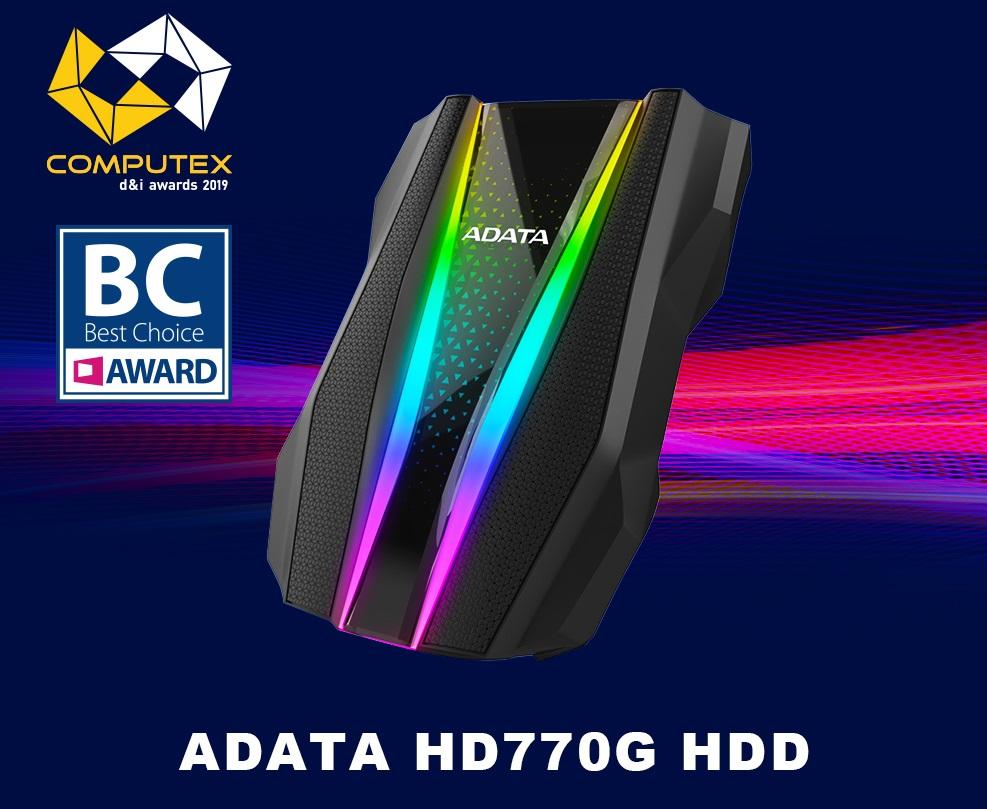 """Az ADATA HD770G külső merevlemez és az SE800 SSD elnyerte aComputex d&i, valamint a HD770G  a """"Best Choice Award"""" díjat"""