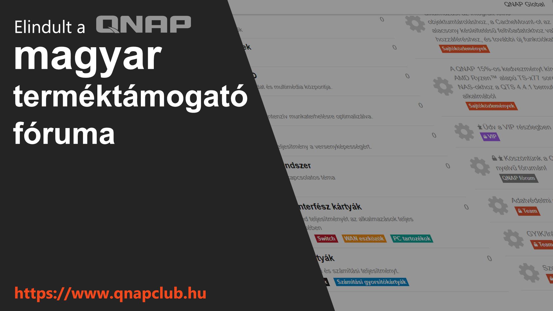 Elindult a QNAP magyar terméktámogató fóruma –  a QNAP Club