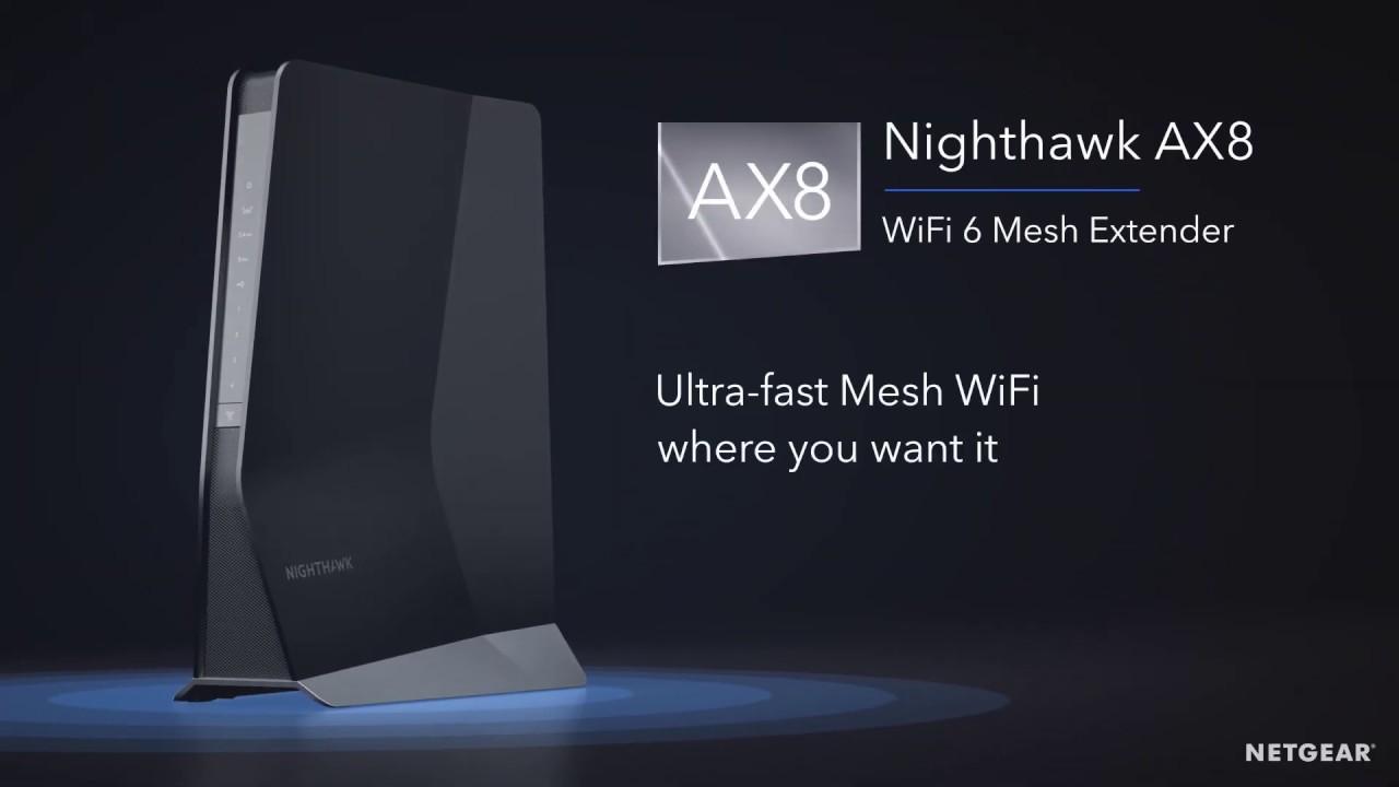 A NETGEAR kiterjeszti a WiFi hálózat lefedettségét és kapacitását az új Nighthawk WiFi 6 Mesh jelerősítővel