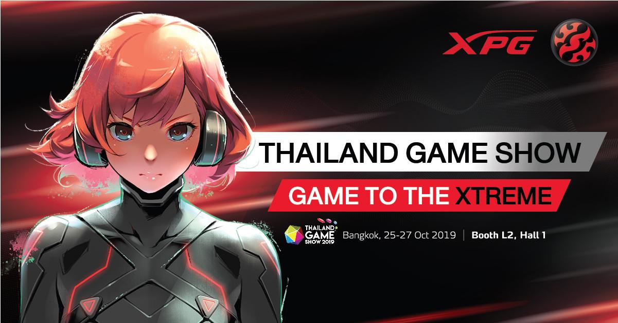 Az XPG bemutatja az Xtreme Performance Gear termékeit 2019-es Thailand Game Show-n
