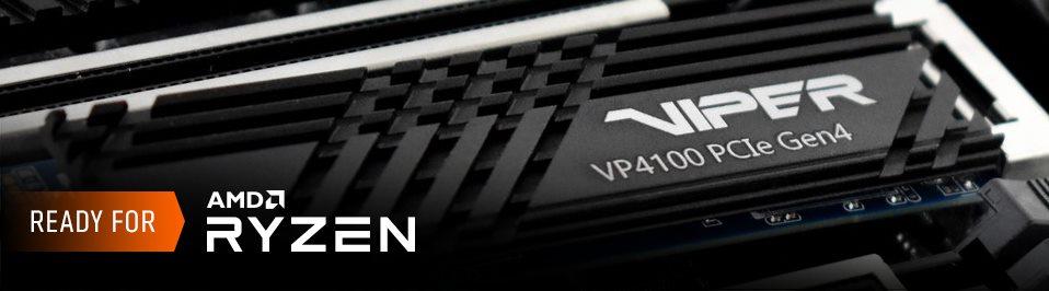 A VIPER GAMING bemutatta a VP4100 M.2 2280 PCIe Gen4 x 4 SSD-t