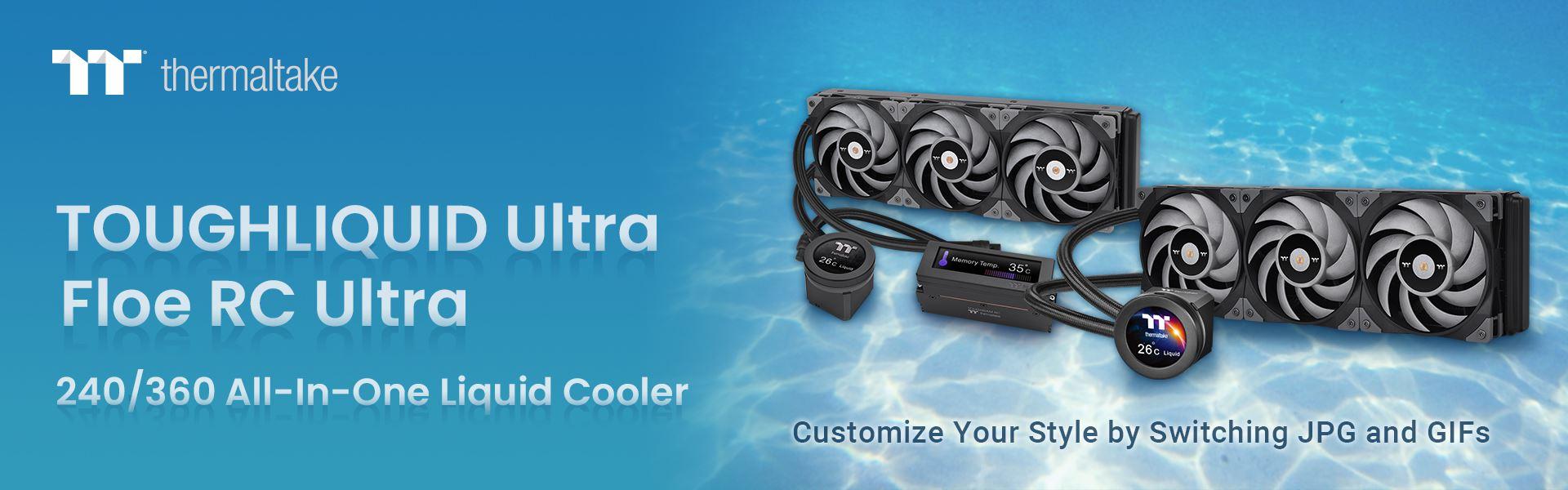 A Thermaltake bejelentette a Floe RC Ultra 240/360 és a TOUGHLIQUID Ultra 240/360 CPU AIO hűtések megjelenését